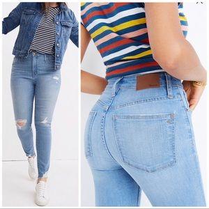 Madewell NWT Curvy HR Skinny Distress Hem Jeans 33